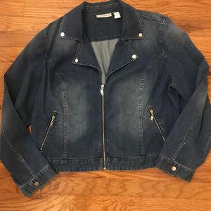 Chico's Platinum Denim Jacket XL/16